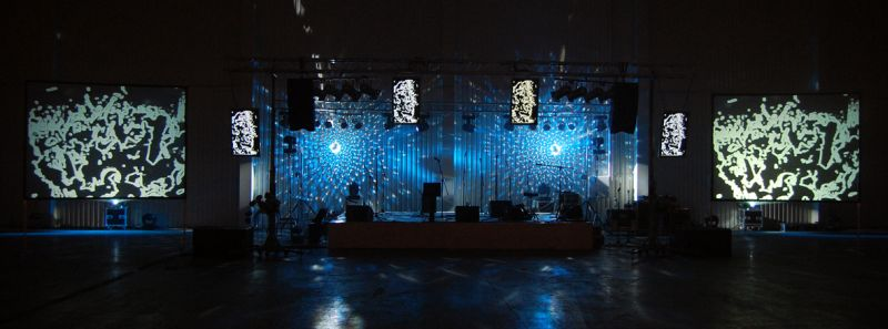 foamglass stage light show